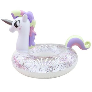 Adult Child Inflatable Glitter Unicorn Swim Ring Pool Floats Water Toys Z1202
