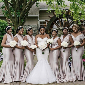 Bridesmaid Dresses 2021 African Mermaid Junior Wedding Party Guest Gown Maid of Honor Dress Custom Made Off Shouler Long