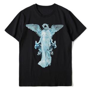 Moda Erkek Desen Baskı T Shirt Siyah Moda Erkekler Kadınlar Yüksek Kalite Kısa Kollu Tees S-XL