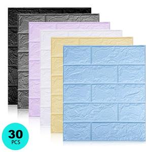 Decorative 3D Wall Stickers Self adhesive Wallpaper Foam Panels Home Decor Living Room Bedroom House Decoration Bathroom Sticker