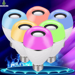 Smart LED RGB Bulb APP Control Music Bluetooth Bulb Synchronization Effect RGB White Warm White Light Bulb