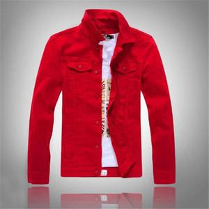Autumn Spring New High quality Bomber Denim Jacket Men'S Ripped Jean Jackets New Garment Washed Mens Denim