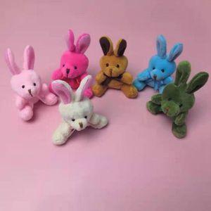 Пасхальные кролики кулон игрушечные куклы плюшевые мини-кролик брелок сумка куклы чучела витая яйца машина мультфильм животных моды мини игрушки подарок W522HB