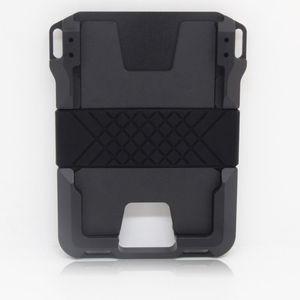 Nuevo Titulares de tarjetas de crédito de aleación de doble aluminio para mujeres Men RFID ID Banco Caja de tarjeta Anti-ladrón Metal RFID Mini Card Wallet C1115