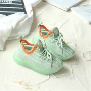 DIMI 2020 Spring Autumn Infant Shoes Soft Non-slip Baby First Walkers Breathable Knitting Girl Boy Toddler Shoes Child Sneakers