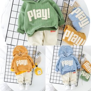 2020 Spring Baby Casual Tracksuit Children Boy Girl Cotton Hoodies Pants 2Pcs Sets Kids Leisure Causal Suit Infant Clothing Set J1204