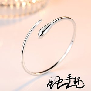 Pure white copper Snake Bracelet female fashion new favorite Snake Bracelet simple and sweet fashion students hand jewelry for their F1130