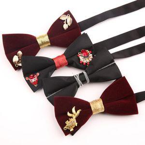 2020 Men's Formal Bowtie Business Gentleman Bow Tie for Wedding Butterfly Bowtie Women Tuxedo Bows Groom Custom LOGO