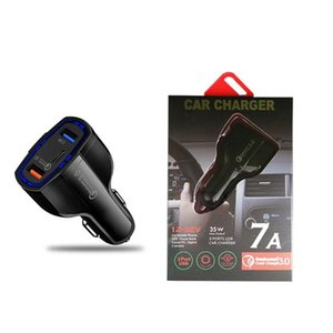 Quick Charge 3.0 Car Charger 5V 7A QC3.0 Fast Charging Car-charger Dual USB Car Mobile Phone Charger For SAMSUNG XIAOMI