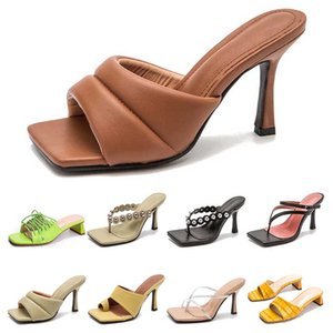 womens fashion Sandals Western style chunky heel Cross tied women shoes green yellow black grey size 36-43 style six