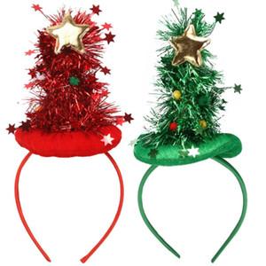 2PCS Teille de coiffure de la forme d'arbre de Noël Bandeau de coiffure