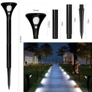 Luces de jardín solar inalámbrico impermeable a prueba de agua luces de jardín solar paisaje focos al aire libre SERVICIO SERVICIO PIR SENSOR DE MOVIMIENTO LIGHT