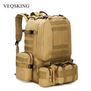 50L Tactical Backpack,Men's Military Backpack,4 in 1Molle Sport Tactical Bag,Outdoor Hiking Climbing Army Backpack Camping Bags Y200920
