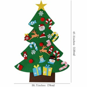DIY Felt Christmas Tree Family Wall Hanging Decoration Christmas Tree Child New Year Gift Decoration Artificial