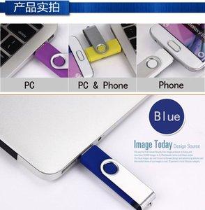 Großhandel OTG USB-Flash-Laufwerk 256MB Farbe Rotary Pen Drive Memory Stick Free Custom Logo Multi-Color USB Pendrive BBYOLH YHSHOP2010