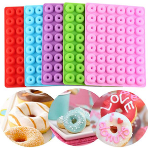 Silicone Rectangle Molds Simulation Mini Donut Chocolate Mould Easy Demoulding Kitchen Baking Tools Multi Color DHD3430