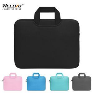 حقيبة كمبيوتر محمول المحمولة 11 13 14 15.6 بوصة ultrabook macbook حقيبة يد مكتب الأعمال حقيبة مفكرة أكياس القضية case xa63c q0112