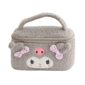 Cute Kuromi Box Beauty Plush My Travel Makeup Cosmetic Melody Bags Women Vanity Ladies Organizer Case Storage Box Toiletry Bag Gdvgd