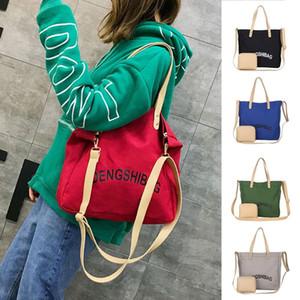 Designer-Fashion Women Canvas Shoulder Bag Ladies Casual Handbag Crossbody Tote Large Shoulder bag Large Capacity Shopper Tote