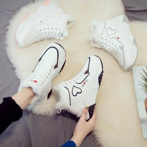 2020 Newset Women Love Boots Lace Outdoor Winter Plush Casual Shoes Wear Female Snow Boots Footwear Zapotos Mujer Warm Sneakers Q572