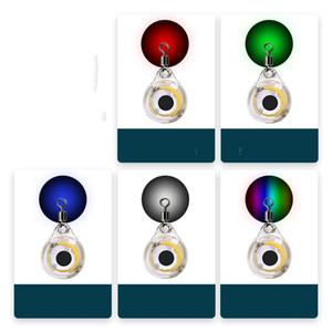 Balıkçılık Cazibesi LED Balık Göz Yem Plastik Su Geçirmez 5 Renkler Glow Çinko Alaşım Leves Lures Lamba Gece Dairesel Pürüzsüz Açık 3 5xh L2