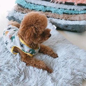Soft Pet Dog Blanket Cat Bed Mat Long Plush Warm Double Layer Fluffy Deep Sleeping Cover for Small Medium Large Dogs Mattress