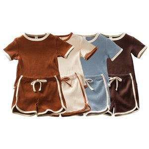 HIPAC 2PCS Toddler Baby Boys Girls Romper Sets Casual Novel Patchwork Newborn Infant Clothing Short Sleeve Clothes Shorts Suit