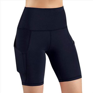 High Waist Push Up Short Leggings Women Pocket Running Athletic Sport Pant Quick drying jogging skinny Fitness Legging Sweatpant