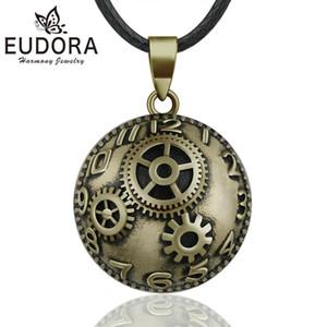 Eudora Harmony Ball Collar Embarazo Chime Ball MEXICAN Bola Vintage Bronce Reloj Colgante para Mujeres Joyería de moda Regalo B335