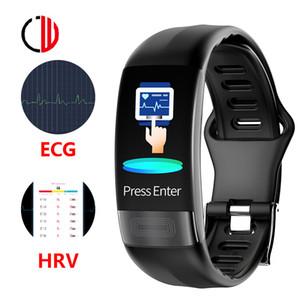 CZJW P11 ECG Smart Watch HRV Lorentz Diagramme Montre Bluetooth Homme Temps effectif Temporure cardiaque Temporure de remise en forme