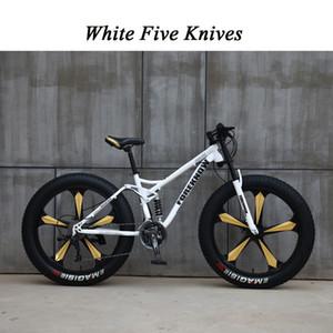 26 дюймов 4,0 жирные шины велосипед велосипед пять нож один колесный ездинг от дороги шире шины взрослый досуг скорость
