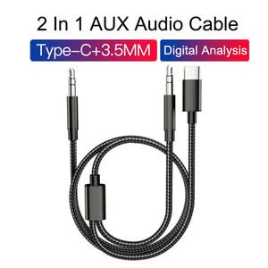 Typ C und 3,5 mm bis 3,5-mm-AUX-Audiokabel Stereo-Auto-Erweiterung Audiokabel für Android-Telefon mit Retail-Paket