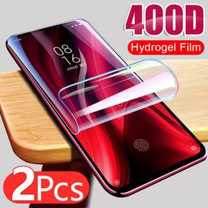 2pcs Hydrogel Film para Xiaomi Redmi Note 9S 9 PRO MAX 7 8 K30 K20 8T POCO X3 NFC M3 Protector de pantalla Redmi 8 Protective Sin vidrio