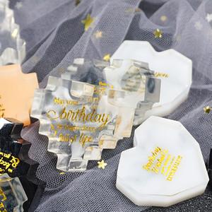 FAI DA TE Stampi in silicone resina epossidica Glue Grue Geometel Geometria Forma di cristallo a forma di cuore Strumenti artigianali 6 pezzi Un set di alta qualità M2