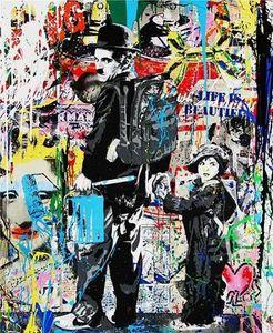Canvas Monopoly On Multi Brainwash Quality Chaplin High Pop Alec Handpainted Hd Print Mr Painting Oil Sizes Art Charlie & Graffiti bbyAg