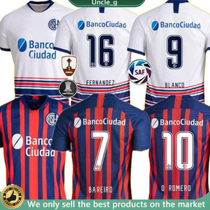 2020 2021 San Lorenzo de Almag Soccer Jerseys 20 21 Camisas de Futebol Coloccini Senesi Bellusch Blandi Blandi Cerutti Camicia da calcio