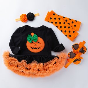 long sleeve baby girl romper newborn lace romper girl baby suit halloween costumes for babies and toddlers 4pcs 3pcs 2pcs set B1203