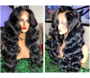 12-28inches long Ladies front lace wigs curly hair wig natural black fluffy big wave chemical fiber hair wavy wig Synthetic hair Lace wigs