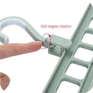 2020 New Hot Sale 1 Nine-hole Magic Hanger Drying Rack Creative Multifunctional Hanger Home Non-slip Drying Rack Hanger
