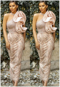 2020 Arabic Aso Ebi Luxurious Lace Beaded Evening Dresses Halter Sheath Prom Dresses Vintage Sexy Formal Party Second Reception Gowns ZJ205