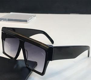 40030 Винтажные солнцезащитные очки Одри Мода Женщины Модель Большой Квадрат Рамка Лоскут Верх Верхний Негабаритные Топ Солнцезащитные очки Леопардовый ПК Планка Рамка Материал