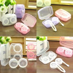 Portable Plastic Contact Lens Case Compact Multicolor Duplex Scatole Duplex Color Pure Color Beautiful Pulil Box 0 8HQ J2