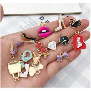 55pcs / pack multistyle bracelet bracelet collier collier de charmes pendentifs mignon diy bijoux fabrication accessoires composez sqcphe beauté888