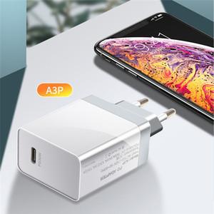 30W PD cargador QC4.0 QC3.0 USB Tipo C Cargador rápido CARGO RÁPIDO 4.0 3.0 QC