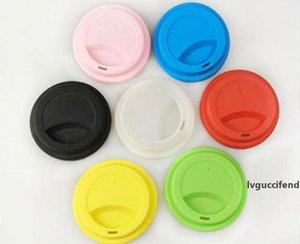 9cm Tapa de la taza de silicona Taza creativa taza de grado alimenticio taza reutilizable taza de café tapa anti-polvo cubierta de sello hermético para 12 oz / 16oz tazas epacket