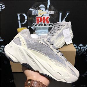 2020 Nueva alta calidad Kanye West Running Shoes 700 V2 Vanta Sólido Gray Utility Black Wave Runner Estático Reflective Hombres Mujeres Mujeres Deporte