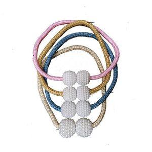 Cortina de bola magnética Clip de perla Sin instalación de cable de perforación Cortinas de ventana gratis Hebilla Multi Colores Atracción Cuerda 1 2ZC O2
