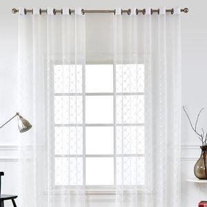 Rideaux tulle pour salon moderne voile rideaux de chambre à coucher décoration vitrine Traitements de salon blanc Drapeaus Cuisine