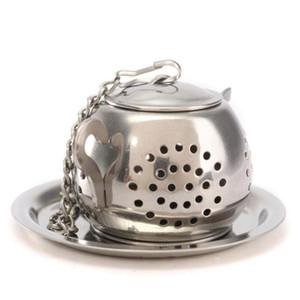 Çay Demlik 3.8 cm Çaydanlık Şekilli 304 Paslanmaz Çelik Bitkisel Pot Çay Demlik Süzgeçler Filtre Çay Ball DHD3767