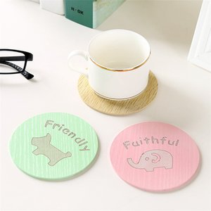 Cup Insulation Wooden Coaster Kitchen Anti Scald Non-Slip Bowl Dining Table Mat Free DHL Super Fast Service In 3-5 Days DHE178